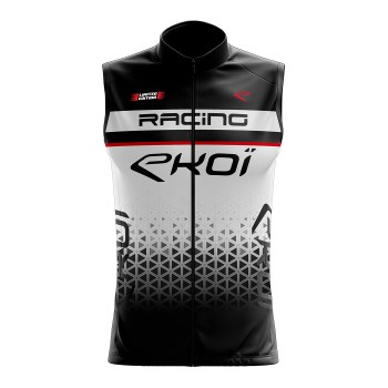 Cycling windproof vest VELO EKOI RACING WHITE