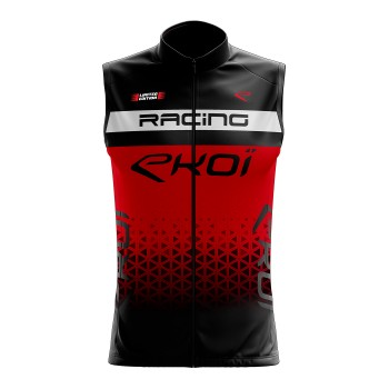 Cycling windproof vest EKOI RACING RED