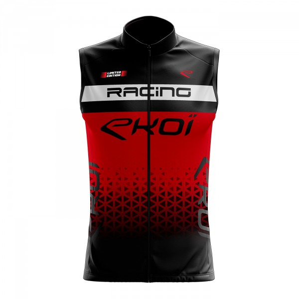 Gilet coupe-vent EKOI LTD RACING Rouge