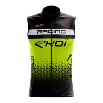 GILET ANTI VENTO EKOI RACING GIALLO FLUO