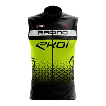 Cycling windproof vest EKOI RACING Neon Yellow