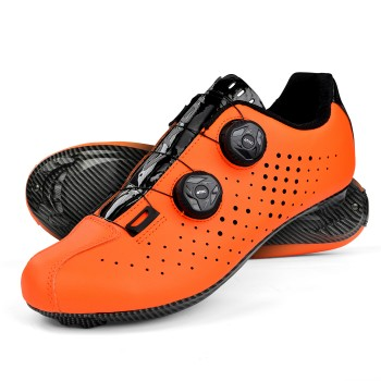 Road Cycling Shoes EKOI R4 EVO ORANGE