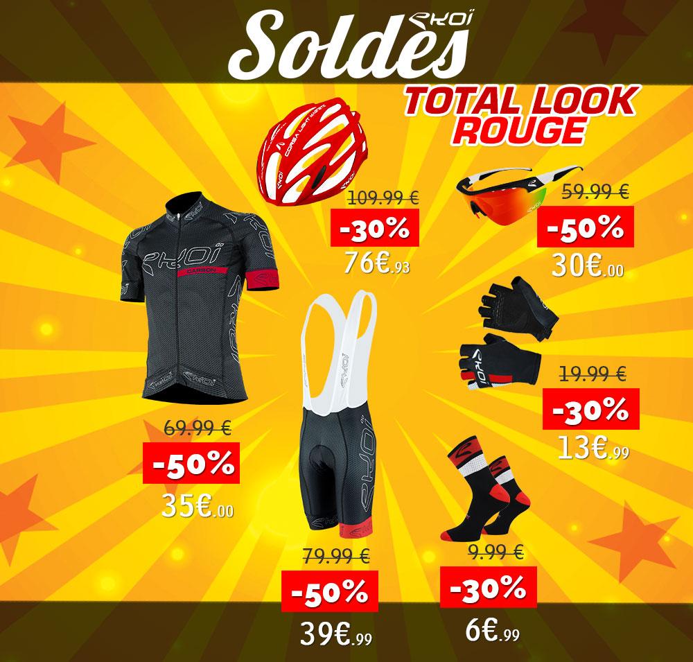 Total look Rouge EKOI Soldes