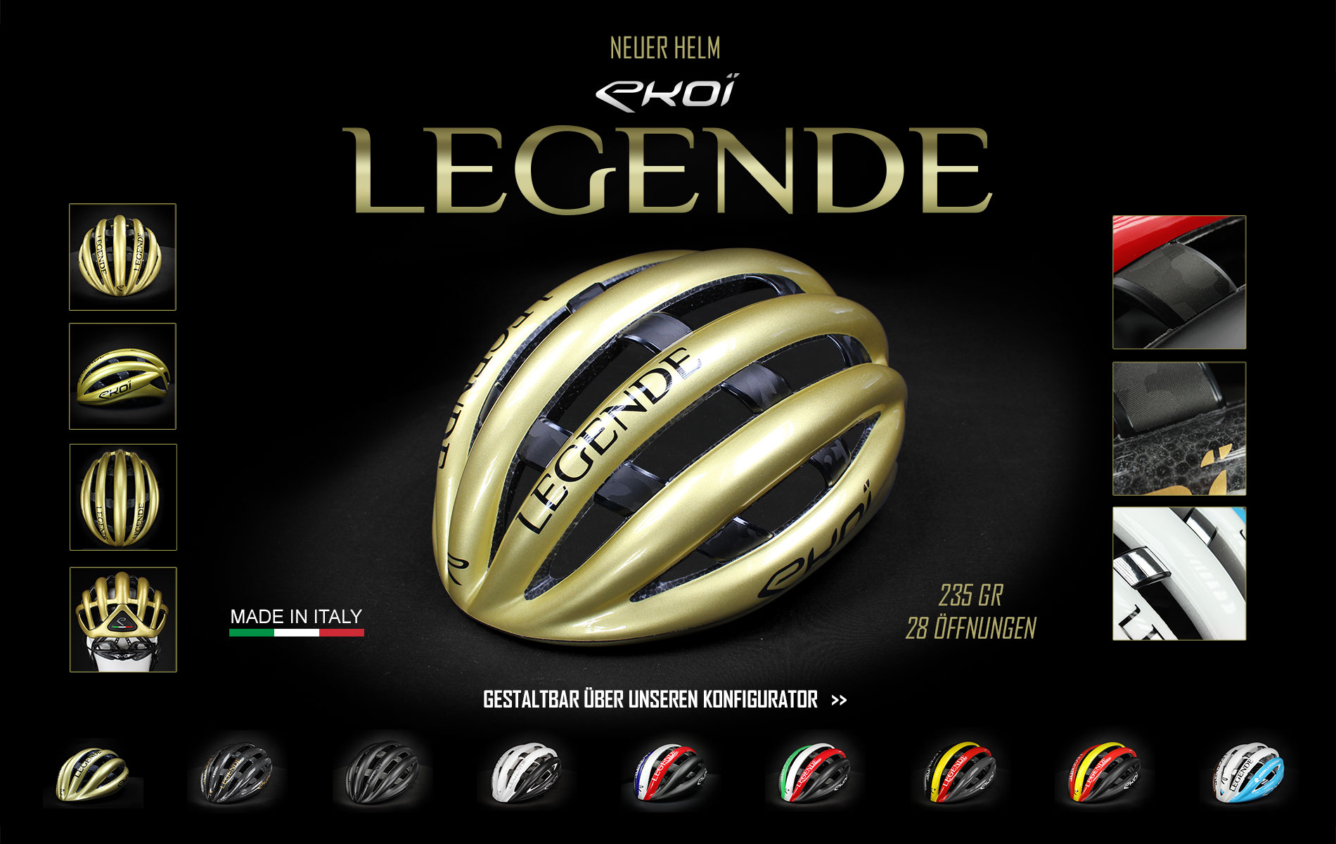 Casque EKOI LEGENDE Romain Bardet AG2R La Mondiale
