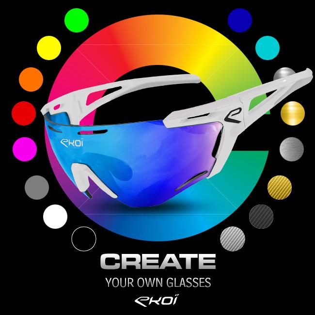 EKOI Custom personnalisation lunettes vélos