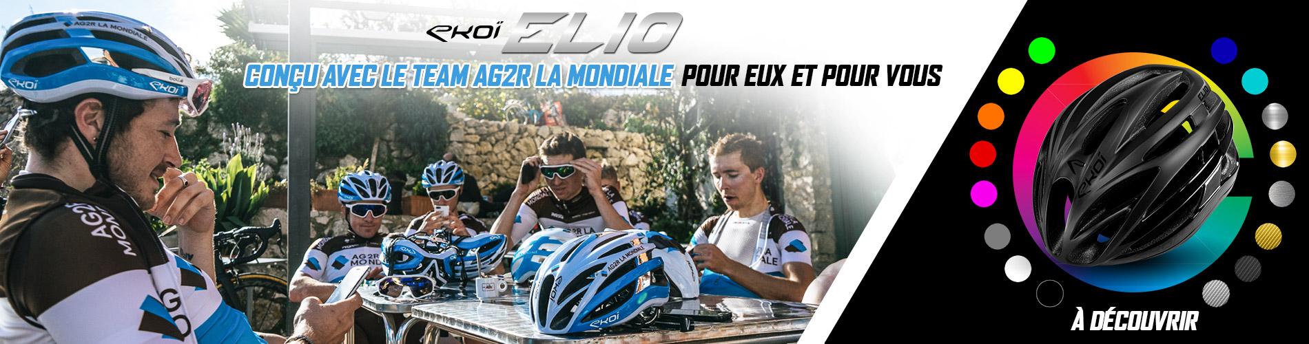 Nouveau casque ELIO EKOI avec le Team AG2R La Mondiale Cycling