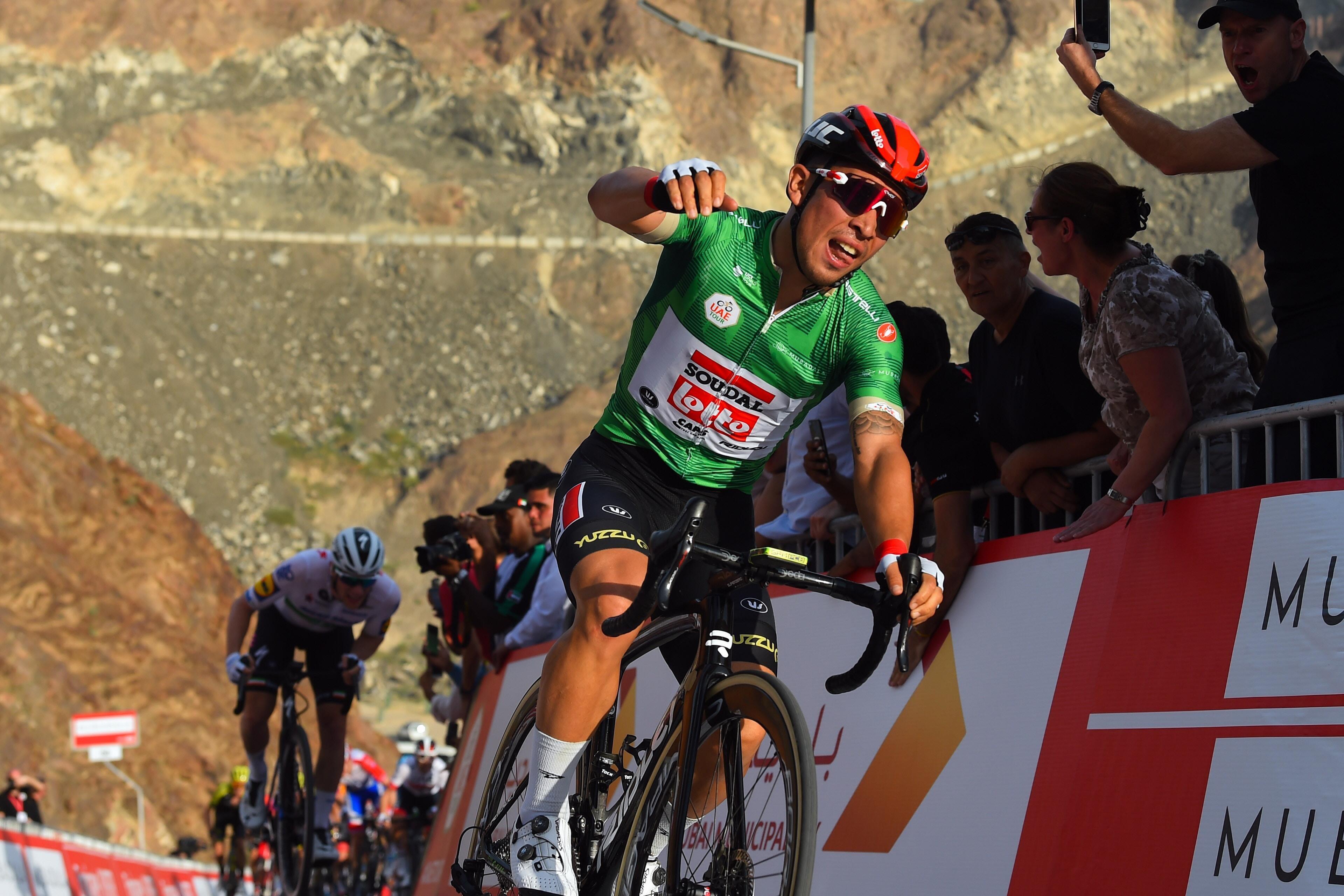 Caleb EWAN remporte la deuxième étape de l'UAE Tour et prend la tête du général (Lotto Soudal)