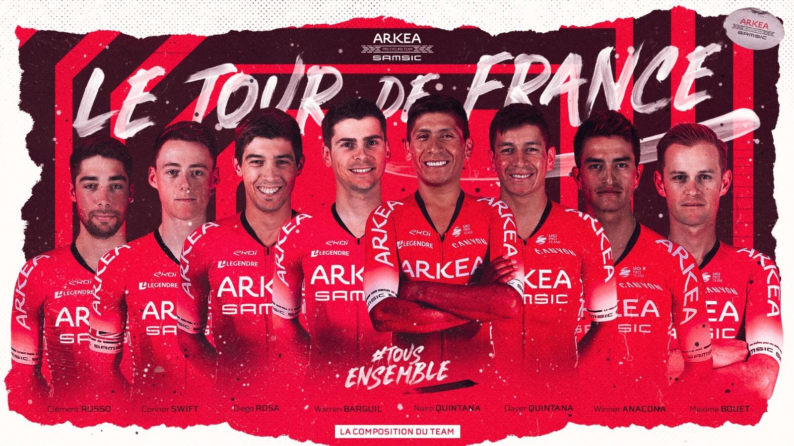 Presentation of Team Arkea Samsic on the Tour de France 2020