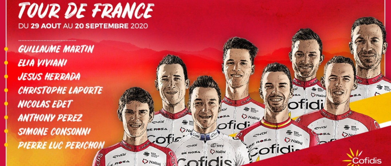 Presentation of Team Cofidis on the Tour de France 2020