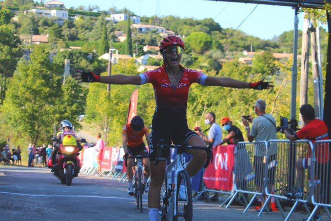 pauline Allin Victory on the 6th stage of Tour de l'Ardèche International