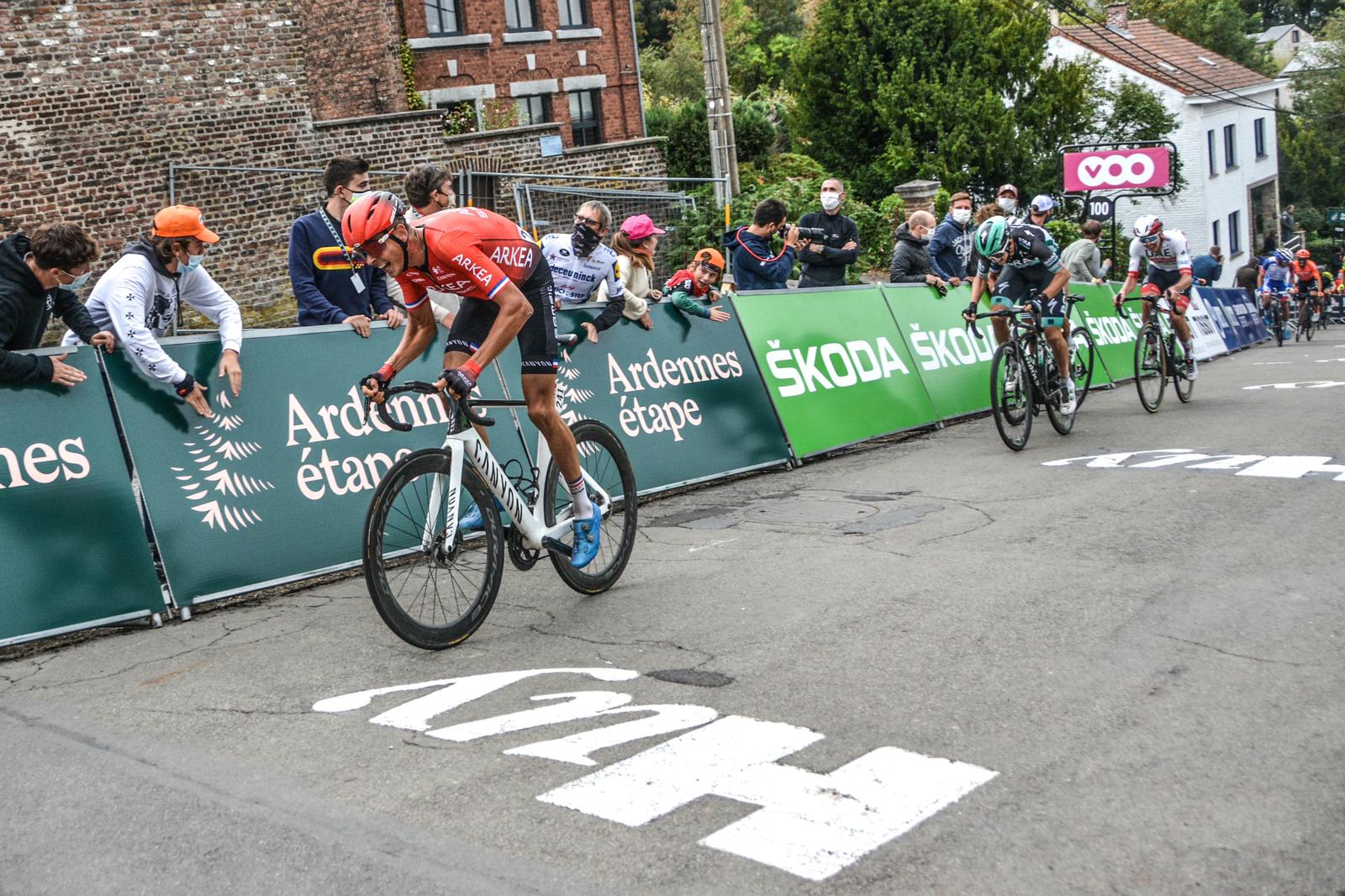 Warren Barguil : 4th at the top of  the Mur de Huy
