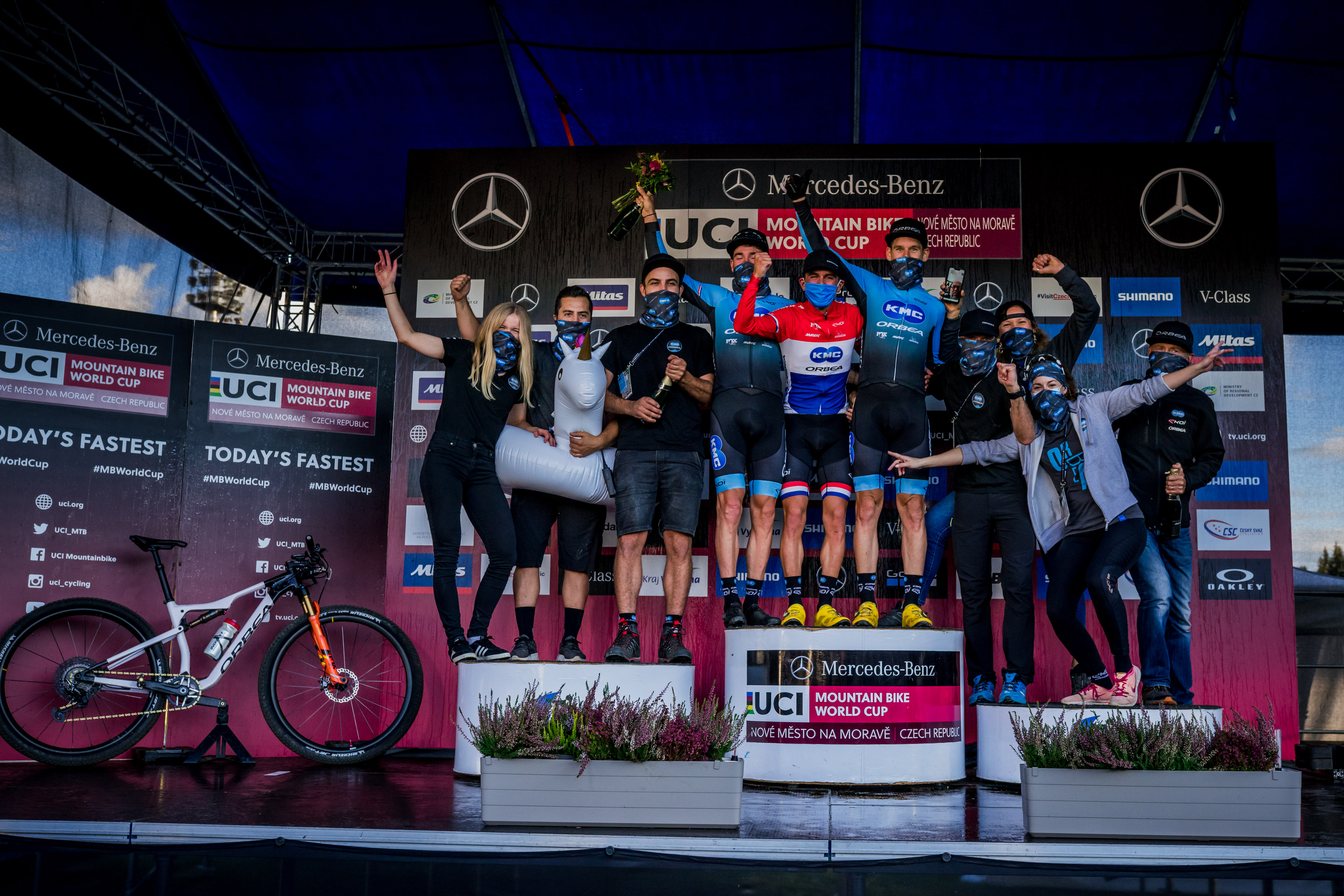 Five Products for the  Team KMC Orbea in Nove Mesto
