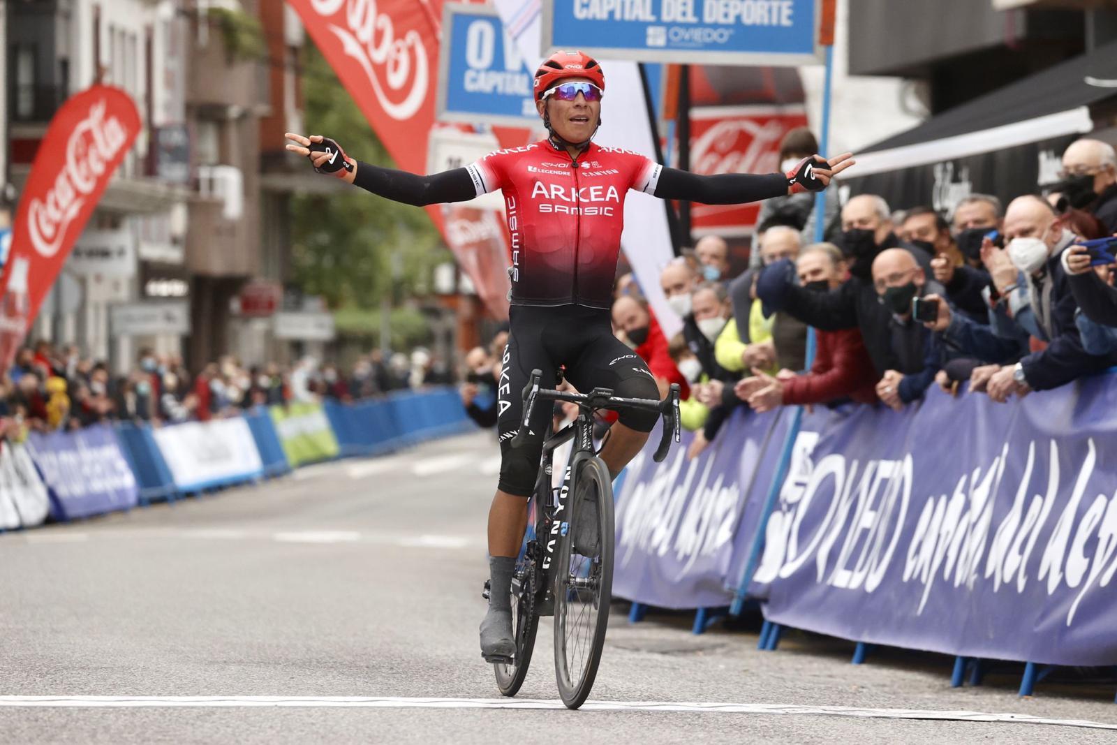 Nairo Quintana remporte la 1e étape du Tour des Asturies