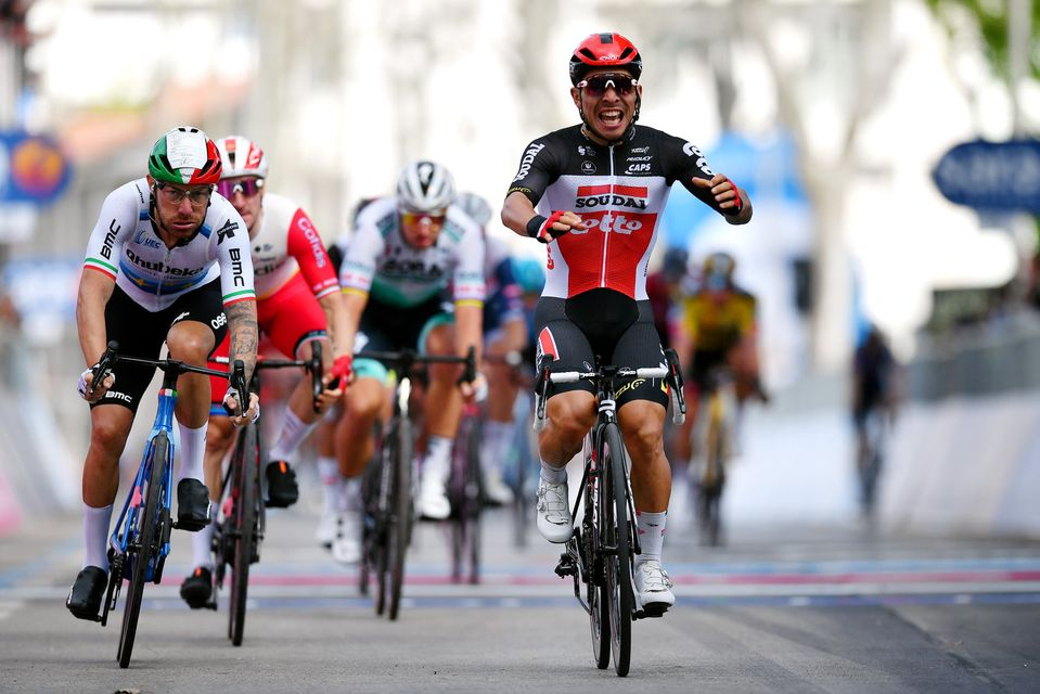 Ekoi took the  3 first  positions on the  5th stage of Giro